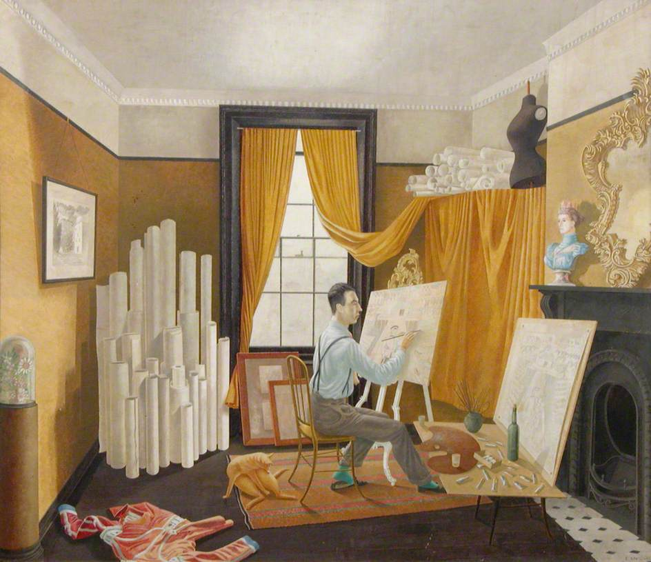 Eric Ravilious drawing of Bawden
